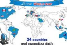 Sirena Around The World / Over 300 dealers across 24 countries and expanding daily.