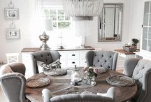 GRAY & WHITE / Using the mix of gray and white for a soft and elegant room. Kitchens, bathrooms, living rooms and accessories.
