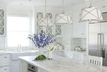ALL WHITE KITCHENS / The name says it all. A collection of beautiful all white kitchens
