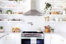 OPEN SHELVING / Open shelving adds an affordable option when remodeling or updating your kitchen.