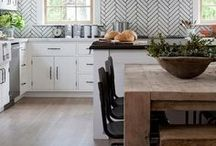 TILE IDEAS / Patterned tile has been around since ceramic! This new trend adds and interesting texture to kitchen and bath makeovers and remodels