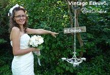 Vintage Style Wedding/ Vintage Eskuvo / Ilyen  egy Vintage Esküvő,  nálunk az EraDekornál.  Egyszerű, egyedi ötletek a romantikus, természetes esküvőkhöz  www.eskuvo.eradekor.hu