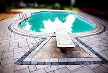 Hardscape Services / From driveways to poolsides and everything in between.  Let stylish and timeless concrete pavers add value and curb appeal to your home!  All photos are projects completed by our professional staff.