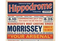 Morrissey Music Hall Playbills / What if Morrissey had been around in the 1940s, 1950s & 1960s. I like to think he would have been a Music Hall or Variety entertainer. These posters are available in my Etsy shop.