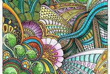 Doodles & watercolour