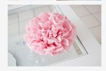 DIY Flowers / DIY, Flower, Paper, Craft, Paper Flowers, Art, Creativity, Color, Spring, Summer