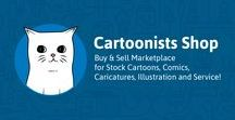 Cartoonists Shop / Cartoonists Shop A Buy & Sell Marketplace for Stock Cartoons, Comics, Caricatures, Animation, Illustration, and related services.  The artwork is available for downloads with the paid-on-demand subscription.  https://www.cartoonistsshop.com/artworks/