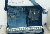 recycling denim jeans / my own work,