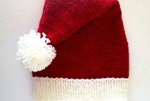 CHRISTMAS GEMS / Handknit & crocheted Santa hats & Christmas decorations!