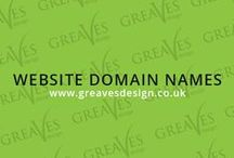 Website Domain Names / A domain name is your official web name for your own space on the internet. For example http://www.greavesdesign.co.uk. The internet has come a long way from when it first started.