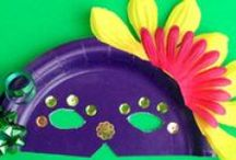 Mardi Gras Crafts & Activities / Mardi Gras Crafts for Kids.  Colorful and fun ideas for preschool activities and crafts.  Check often for updated ideas for Mardi Gras Activities for Kids.