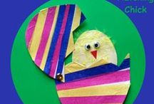 Easter Crafts & Activities for Kids / Cute Easter crafts for kids.  Easy crafts and activities for younger children.  Ideas for inexpensive Easter baskets.