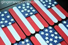 Fourth of July Crafts for Kids / Celebrate Independence Day with your children this year.  Find crafts, recipes and activities for July 4th (Fourth of July).  Free July 4th coloring pages to red white and blue desserts!