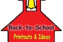 Back to School Ideas for Parents and Teachers / Getting the kids ready for school.  Ideas, activities, printouts and crafts for the first day of school and teacher open house night.