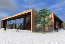 Esztergomi Sportcsarnok / Esztergom Önkormányzata által kiírt városfejlesztési  területre sportcélú épület tervezése.