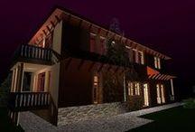 Siófoki családi ház / Baross Péter terve alapján készített látványtervek egy siófoki családi házról