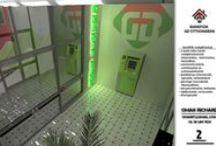 Gránit Bank / A jövő bankfiókja | belsőépítészeti látványtervek