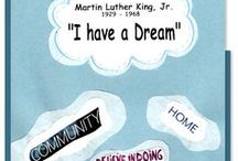 Martin Luther King Jr Day Activities / Classroom activities for kids to celebrate Martin Luther King Jr. Day.