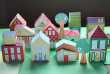 Paper Architecture / paper dollhouses, and other architectural structures for projects to do with kids.