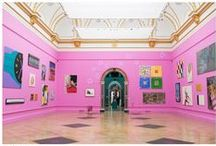 Summer colour inspiration – pink! / In this year's RA Summer Exhibition, as in his own work, Michael Craig-Martin RA makes a big impact with colour. The bright pink that this year's co-ordinator has chosen for the walls of Gallery III – a shade that he's often made use of in his vibrant prints and paintings – has inspired us to look at other artists who work in such rosy tones too.  To find our more about the Summer Exhibition and book tickets: https://www.royalacademy.org.uk/summer  / by Royal Academy of Arts
