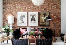 Wonder Walls / Murals, decors, bricks, paints, colours...