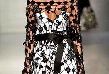 Кружево-платье / вязаные платья и идеи для них