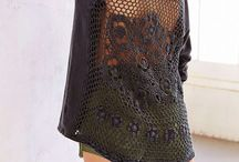 Кружево+ткань / сочетание вязания и ткани