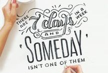 Lettering inspiration / Compelling hand-lettering, fonts and typography