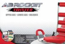 Ab Rocket Twister / Launch Yourself into Amazing Abs with the Ab Rocket twister!  Strengthen your core by rocking back and forth for easier crunches, reverse crunches, oblique exercises and more. The innovative seat design gives you an option to twist and turn your lower body to maximize your work-out.