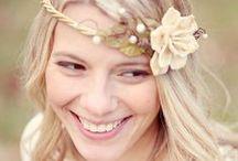Coiffure florale pour la mariée style forêt / Coiffure florale pour la mariée style forêt