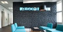 Case Study - Algomi / Signbox inspires with an effective combination of glass manifestation and light solutions at Algomi.