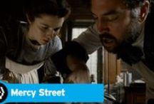 Mercy Street / Mercy Street is the PBS Civil War drama set in our own Old Town, Alexandria, Va. The show chronicles life connected with Mansion House Hospital in Union occupied Alexandria. | Premieres Sunday, January 17th at 10 o'clock [after #DowntonAbbey]  | #MercyStreetPBS