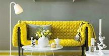 Yellow Interiors / Pops of yellow as a cheerful and uplifting accent colour in the home.