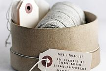 Simple Packaging Ideas / Brown paper packages tied up with string. Discover simple, rustic packaging ideas.