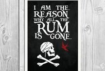 Pirate Art Prints / Pirate art quote prints and cards from http://BlackSailsUK.etsy.com