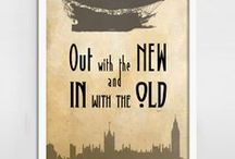 Steampunk and Chap Art Prints / Steampunk and chap inspired Art Quote Prints from http://BlackSailsUK.etsy.com