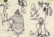· CUADERNO DE ARTISTA · / Cuadernos de artista, bocetos y sketches
