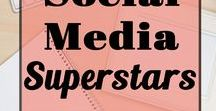 Social Media Superstars / You'll find tips on using Pinterest,Twitter, LinkedIn, Facebook and Instagram. If you want to learn how to use social media to grow your blog or business this board is for you!