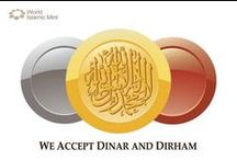 """WIM Stickers / Display the WIM """"We accept Dinar and Dirham"""" Sticker, in the language of your preference, in a visible place at your shop or business and... Start accepting WIM Dinar and Dirham, as means of payment, in your business"""
