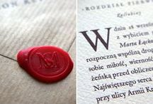 Stationery / Invitations designed by Milena Murawska for Calym Sercem