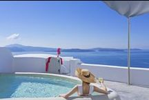 Andronis Boutique Hotel - Santorini / Andronis Boutique Hotel is the newest member of Andronis Exclusive Hotels. Boutique style built on the edge of the cliff, 100 meters from the caldera sea with magnificent views of the volcano. This excellent hotel has 14 suites, all designed with influence by the Aegean Sea architecture. ~ www.andronisboutiquehotel.com ~