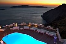 Sun Rocks Hotel - Santorini / Overlooking the volcanic islets of the Caldera basin, discrete elegance and unsurpassed luxury tailor-made services characterize the genuine experience of hospitality felt at Sun Rocks Santorini exclusive hotel. / by Travelive