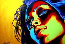 Artworks / Paintings, Pop Art, Portrait, Fine Art, woman, beauty, faces, fluo, colorful, colours, contrast, figurative, expressionism, realism, human figure