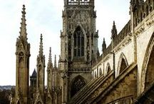 """Buildings and Architecture / """"A rock pile ceases to be a rock pile the moment a single man contemplates it, bearing within him the image of a cathedral."""""""