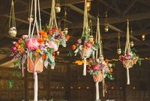 hanging wedding decor / Beautiful floral installations to be suspended from the roof of the tent.