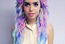 Kolorowe włosy :3