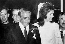 Catching the president's widow Jackie Kennedy with Greek billionaire tycoon Aristotle Onassis / After John and Bobby's assassination's and fearing for her life and her children' lives. She married long time friend divorced father of 2 Aristotle. they met previously in 1963 on a cruise aboard his yacht Christina to rejuvenate her after infant Patrick died. They married on October 20,1968.It was not a fairytale because he had an affair with Maria Callas also he viewed her a gold digger and planned to divorce . He died on March 15 1975 from bronchial pneumonia. he loved her for her celebrity.