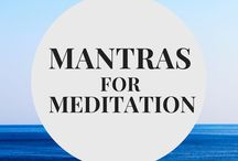 Mantras for Meditation / One word and short phrase mantras for meditation. Use these with your Mala beads!