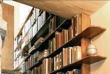 """Home Library / """"Book reading takes you on a journey to places, without having to leave home. What further makes it a first class travel, is a serene ambience.""""  Pinned are the collections, which are practical, ecomonical, multi-purpose, and yes aesthetic."""