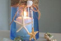 Velas, vidros, decoração e inspirações